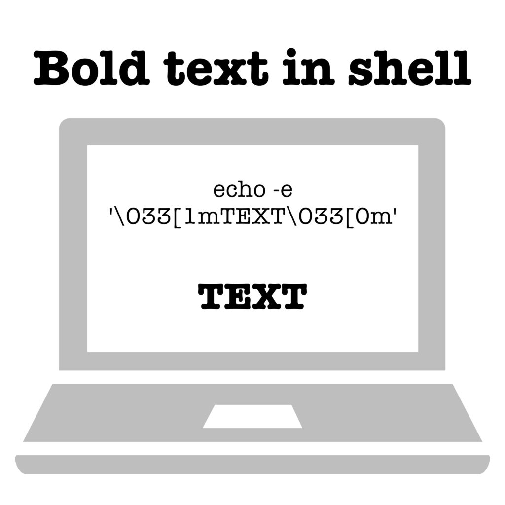 Best practice: Bold text in shell